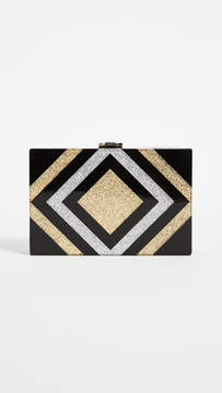 Milly Metallic Box Clutch