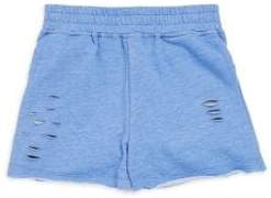 Design History Girl's Distressed Knit Shorts