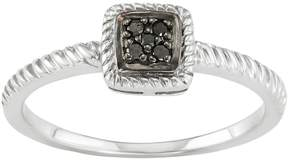 Black Diamond Kohl's Sterling Silver Accent Twist Halo Ring