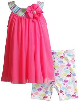 Youngland Toddler Girl Floral Knit Dress & Shorts Set