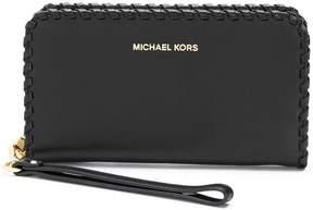 MICHAEL Michael Kors whipstitch-detail wristlet wallet