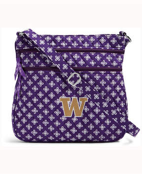 Vera Bradley Washington Huskies Triple Zip Hipster - PURPLE - STYLE