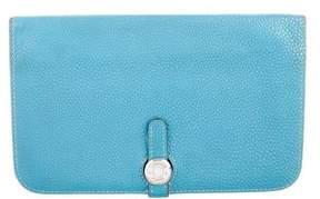 Hermes Togo Dogon Wallet - BLUE - STYLE