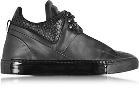 Ylati Poseidon Upper Black Leather Men's Sneaker