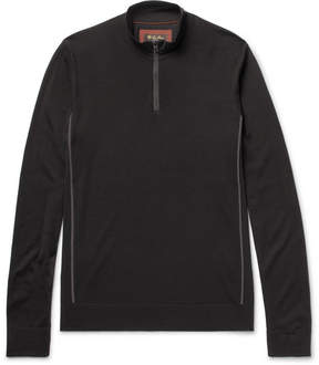 Loro Piana Slim-Fit Virgin Wool Half-Zip Sweater