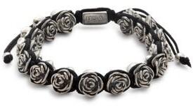 King Baby Studio Rose & Macrame Bracelet