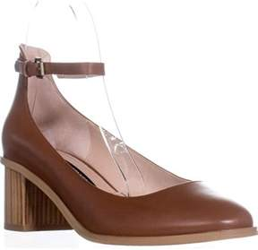 French Connection Clemena Ankle Strap Pumps, Casa Brown.
