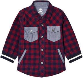 Timberland Kids Red Check Printed Shirt