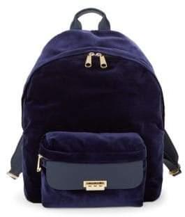 Zac Posen Large Eartha Velvet Backpack