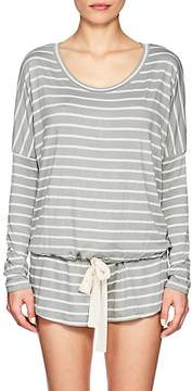 Eberjey WOMEN'S LOUNGE STRIPED DRAWSTRING TOP