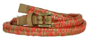 Nine West Women's Woven Straw Belt (L, Pink)