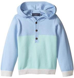 Toobydoo Blue Henley Hoodie (Infant/Toddler)