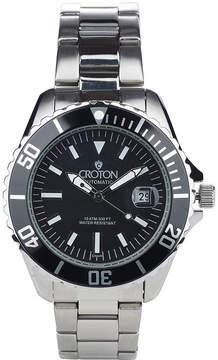 Croton N/A Mens Silver Tone Bracelet Watch-Ca301294bkbk