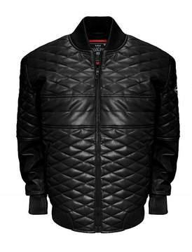 Asstd National Brand Double Diamond Leather Bomber Jacket