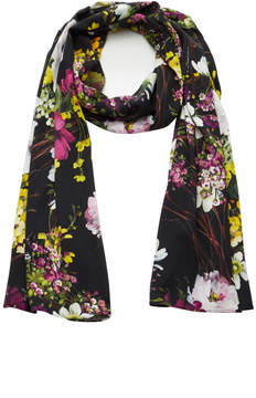Dolce & Gabbana Black Floral-Print Silk Headscarf