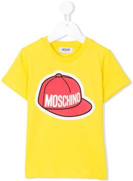 Moschino Kids logo hat print T-shirt