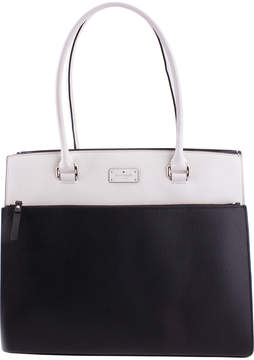 Kate Spade Black & Cement Maeve Grove Street Leather Tote