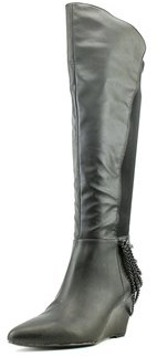 Fergie Samantha Women Pointed Toe Synthetic Black Knee High Boot.