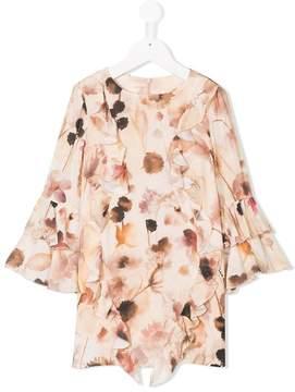 Elisabetta Franchi La Mia Bambina ruffled floral print dress