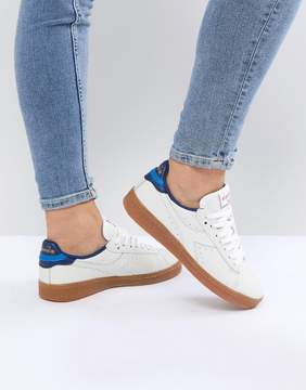Diadora Game L Low Sneakers In White And Blue