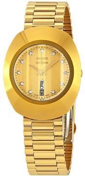 Rado The Original L Diamond Gold Dial Unisex Watch