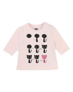 Karl Lagerfeld How To Draw A Cat Tee, Size 3-12 Months
