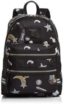 Marc Jacobs Biker Tossed Charms Print Nylon Backpack - BLUE MULTI/SILVER - STYLE