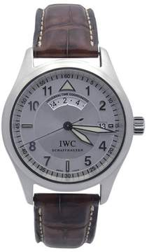 IWC Pilots UTC IW3251-07 Stainless Steel Spitfire Dial on Brown Alligator Strap 39mm Mens Watch
