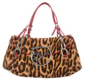 Christian Dior Leopard Diva Flap Bag