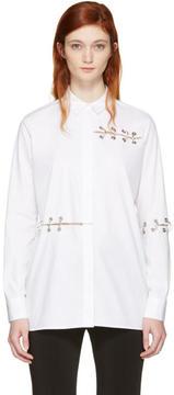 Christopher Kane White Eyelets and Rings Shirt