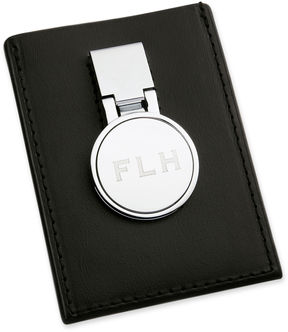 Asstd National Brand Personalized Leather Credit Card Holder & Money Clip