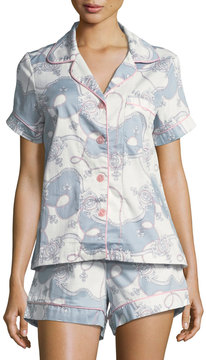 BedHead Classic Printed Shorty Pajama Set