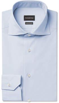 Ermenegildo Zegna Blue Slim-Fit Cotton Shirt