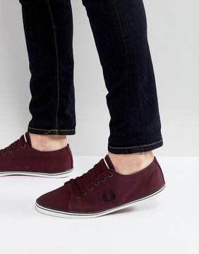 Fred Perry Kingston Twill Sneakers in Red