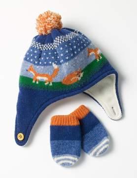 Boden Lambswool Hat & Mittens Set