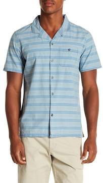 Michael Bastian Striped Short Sleeve Regular Fit Shirt