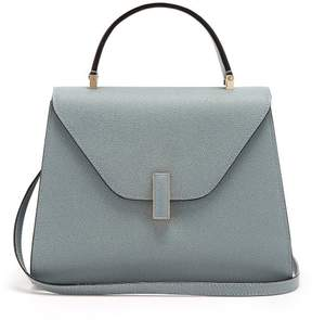 Valextra Iside Medium Grained Leather Bag - Womens - Light Grey