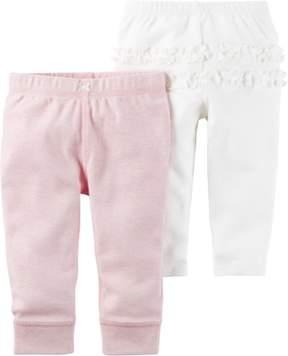 Carter's Baby Girls 2-pk. Sweet Heart Pull-On Pants