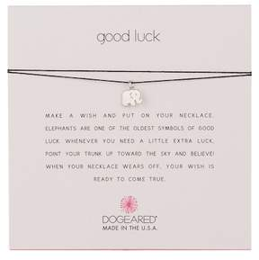 Dogeared Good Luck Elephant Pendant Cord Necklace