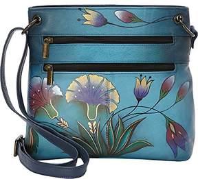 Anuschka Women's Genuine Leather Shoulder Bag | Hand Painted Original Artwork | Turkish Garden
