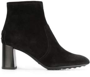 Tod's flared heel ankle boots