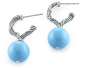 Peter Thomas Roth Bead Silver 12Mm Shell Pearl Drop Earrings