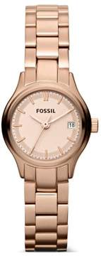 Fossil Archival Mini Three Hand Stainless Steel Watch Rose Es3167