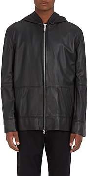 Public School Men's Leather Zip-Front Hoodie