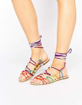 Glamorous Knot Tie Flat Sandals