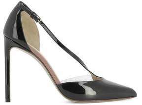 Francesco Russo Women's Black Patent Leather Heels.
