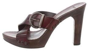 Barbara Bui Crossover Slide Sandals