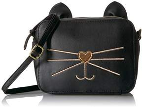 T-Shirt & Jeans Cat Cross Body with Metallic Face