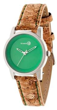 Earth Wood EARTH Women's Canopies Watch with Leather Cork-Overlaid Strap