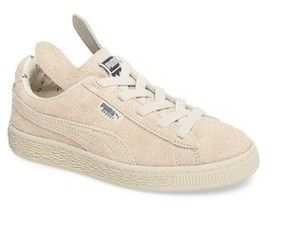 Puma Girl's X Tinycottons Basket Furry Sneaker